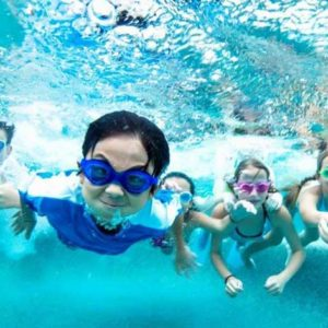 Kids Underwater Temp